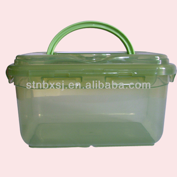 2L Plastic Portable Storage Containers With Buttons