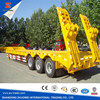 high quality new condition cheap low bed truck semi trailer