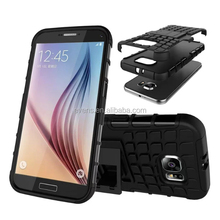 For Samsung S4 Cover Dual Layer Armor Silicone Hard Non slip Plastic Skin Holder Stand Case For Samsung Galaxy S4