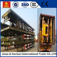 Flatbed Semi Trailer 40ft Container Transportation
