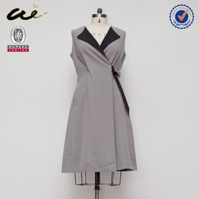 Office lady like gray color ladies dress names