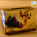 hand mad corrugated cardboard grape/fruits packing box/storag boxewith rope handle