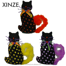 Indoor Party holiday decoration Handicraft Halloween black cat for Use