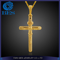 Fashion Jewelry Engraving Maltese Cross Pendant Christianity Jesus Religious Wearing Gold Jewelry