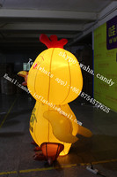 2m high cute inflatable yellow duck cartoon for advertising