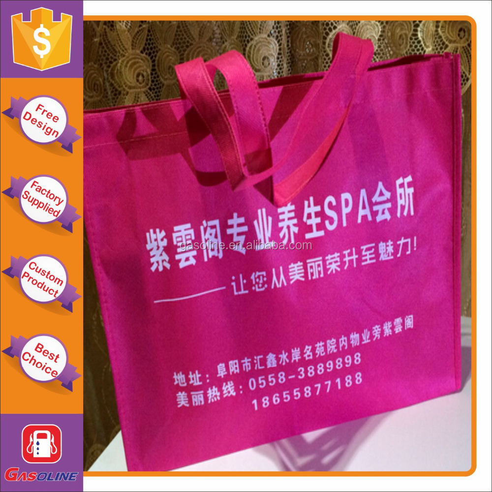 Cheapest excellent azo free foldable shopping non woven bag