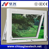 Customized Size heat resistant upvc profile tempered/insulated/laminated glass for window panes