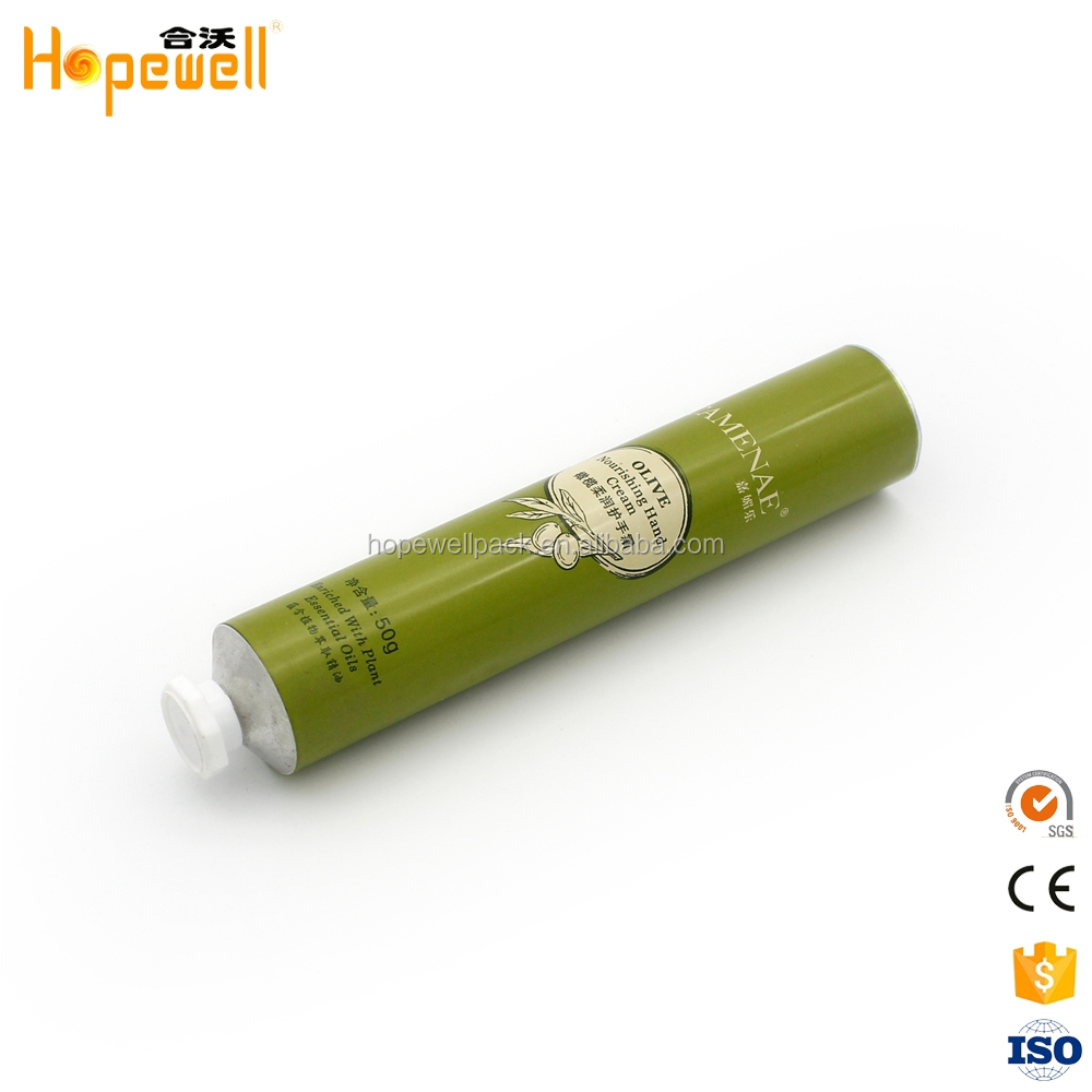 High quality hand cream cosemtic packaging foil sealing paint collapsible aluminium tubes