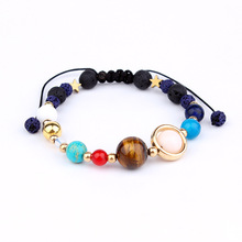 Fashion universe Eight planets in the Galaxy solar system bracelet bangle rope chain guardian star bracelet
