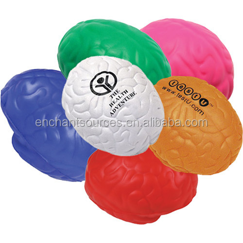 Cheap PU foam brain shaped stress ball