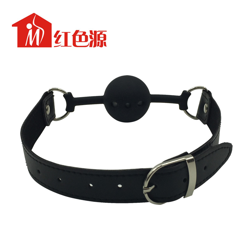 Mouth Ball Gag Harness Bondage Restraints adult sex restraint late mouth plug with 3 <strong>holes</strong>