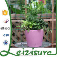 2015 round colored plastic plant pots outdoor indoor decoration planter