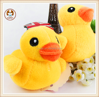 Soft Plush Pet Dog Toys Cute Yellow Duck Squeaky Sound Toys For Small Dog Cats