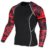 Custom design compression shirt men, fitness training shirt,rounded hem t shirt