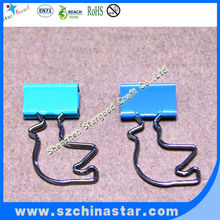 Animal shapes metal 19mm binder clips