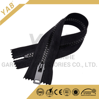 Special closely resin teeth open end plastic zips for garments