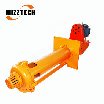 MIZZTECH Centrifugal Type Submerged Mining Vertical Slurry Pump For Sale