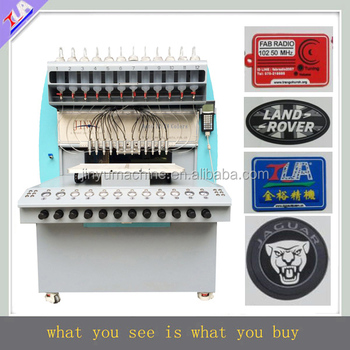 fast delivery !silicone clothing label dispenser machine plastic logo maker equipment