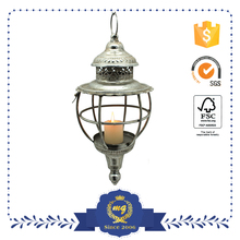 Silver Hanging Candle Holder Metal Lantern Wholesale China Factory