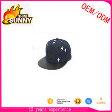 5 panel snapback cap applique hat flat square brim caps and hats