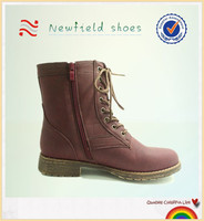 Comfort winter ankle women boots red leather fashion ladies shoes suede women's shoes