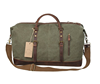 Weekend Overnight Bag Canvas Genuine Leather Travel bag Duffel Tote