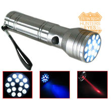 flashlight with 10 white led and 5 UV +1 laser D15+1 UV