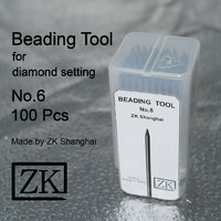 Beading Tools - No.6 - 100pcs - Jewelry Beaders - Diamond Setting Tools