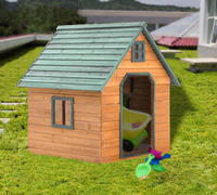 Holiday wooden log chalet garden house