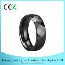 Black Zirconium Tourmaline D Rings