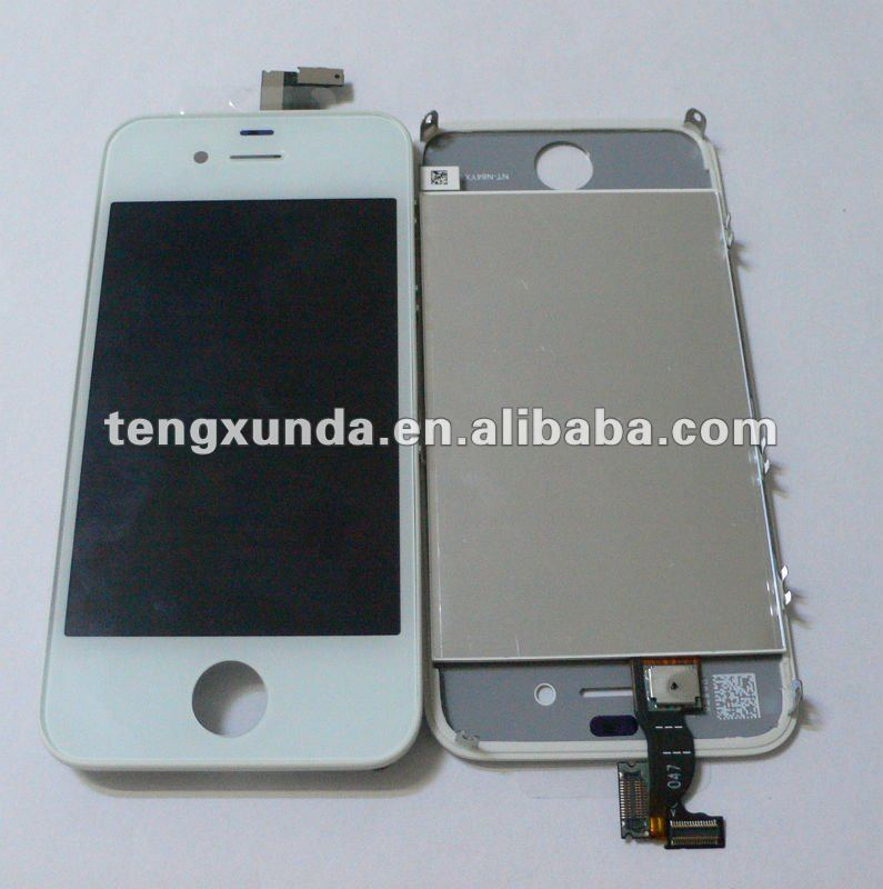 Cell phone repair parts for iphone 4G LCD screen assembly