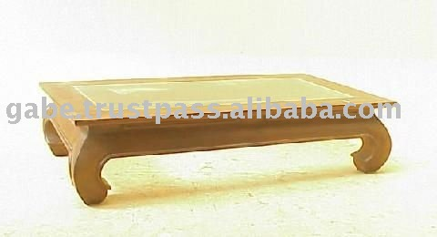 OPIUM COFFEE TABLE WITH GLASS TOP
