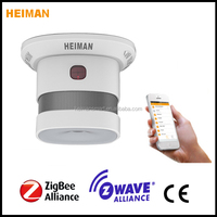 Wireless Zigbee smart home smoke alarm controlled by mobile application