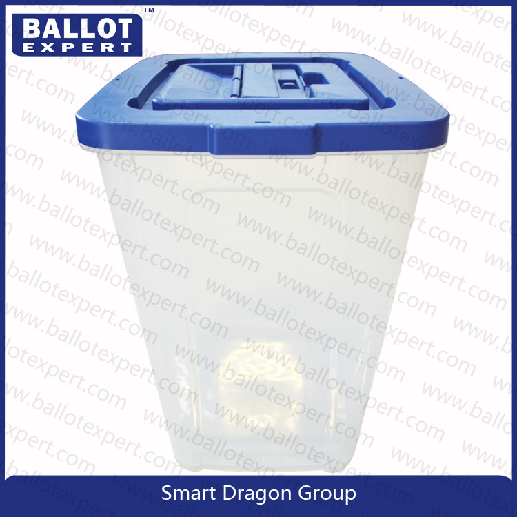 Factory wholesale charity collection box/wham plastic storage boxes/ballot box with stand