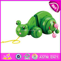 2015 top grade hot sale wooden pull toy cart for kids,popular wooden pull along toy for children,hot sale wooden pulling W05B019