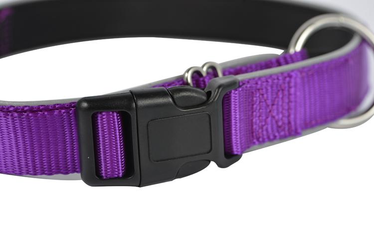 Neoprene Confortável Macio Tecido de Nylon Do Webbing Reflexivo Animal de Estimação Colar Do Treinamento Do Cão