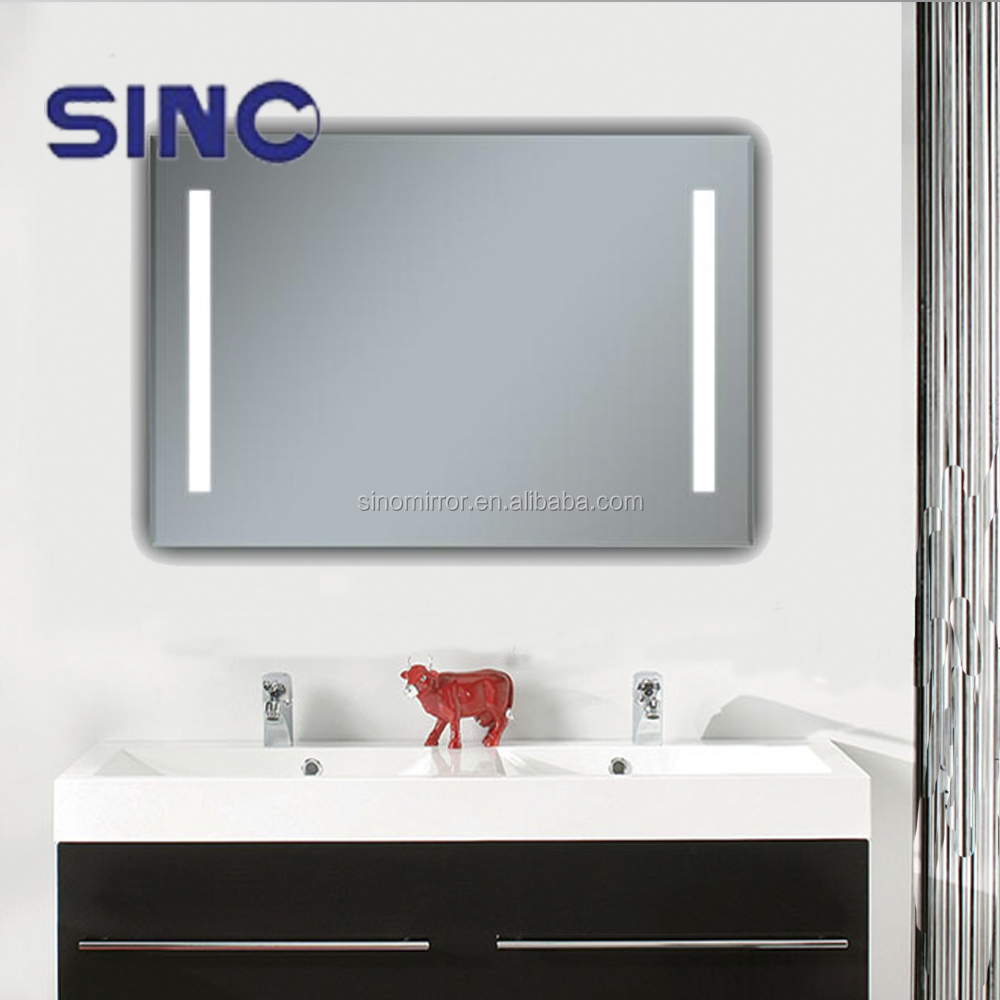 Led illuminated bathroom mirror hotel bathroom mirror for Mirror hotel