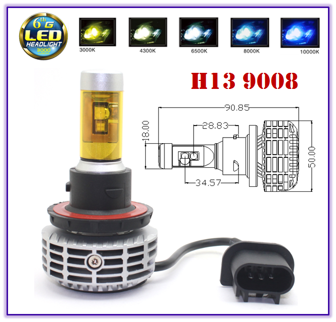 Wholesale Canbus led head light h4 h7 h8 h9 h11 h13 9004 9005 9006 9007 CANBUS car led headlight