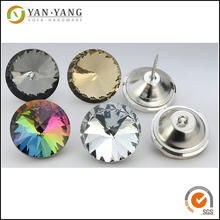 cheap glass button with high quality , furniture crytal button for sofa
