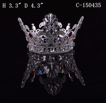 cheap hair accessories large pageant diamond crowns for sale
