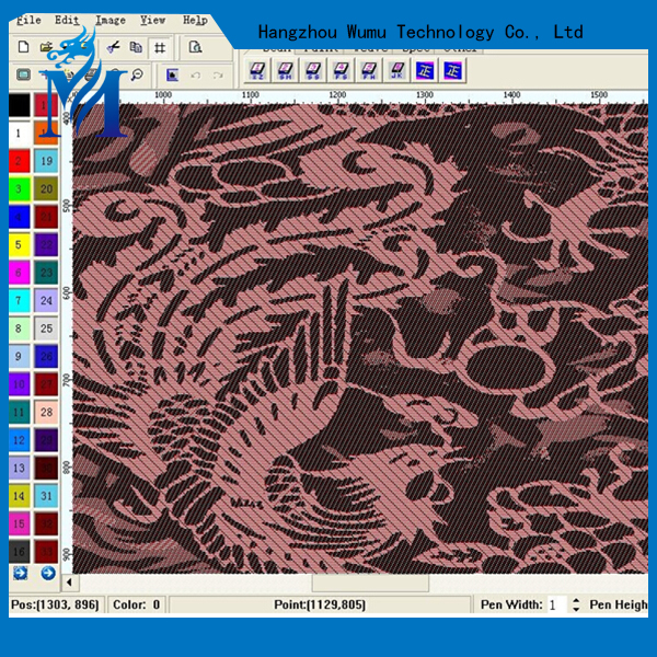 Electronic jacquard textile design CAD software