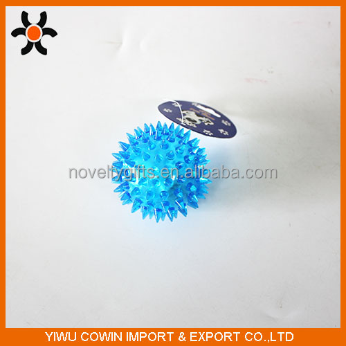 Hot sale TPR flashing bouncy ball for <strong>pets</strong>, rubber toy balls for sale