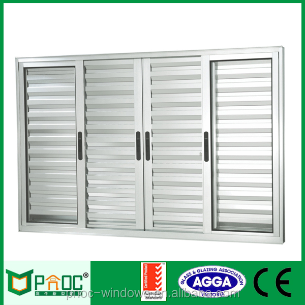 Australian Style Modern Large Glass Security Louvers Prefabricated Windows and Doors