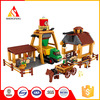 assembling building blocks child diy intelligence toys electric plastic farms for the barn