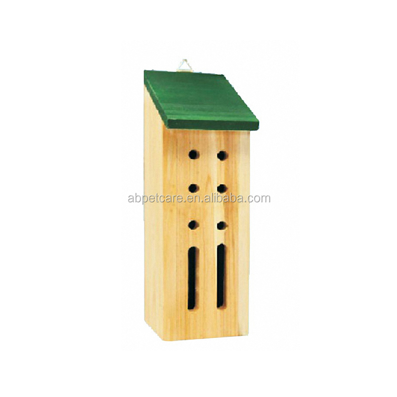Lasted design simple green natural wooden pet insect home