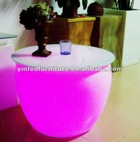 Light up seat/outdoor plastic sofa/coffe bar sofas furniture
