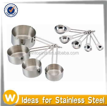 9 piece Stainless Steel Measuring Cups and Spoons Set