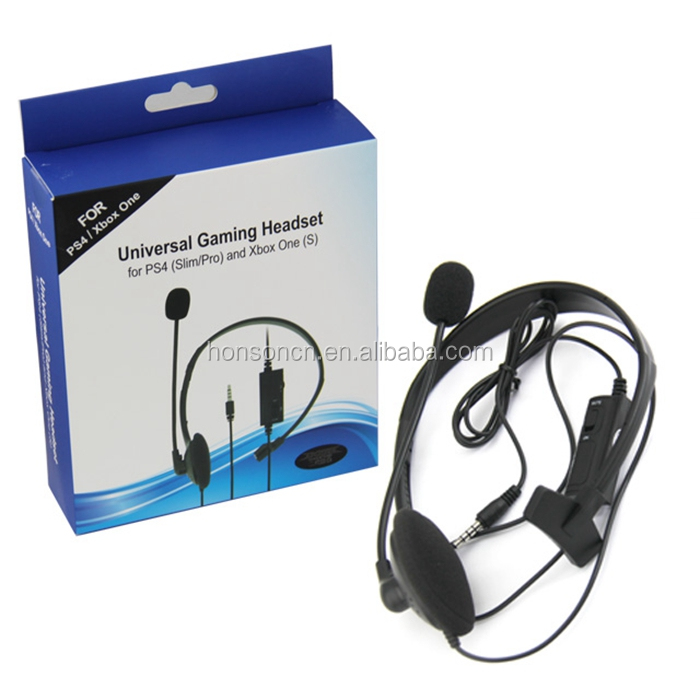 Chat Game Headset Universal Gaming Headest For PS4/XBOX One Earbuds Earpiece Headphones with Microphones