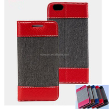 Denim flip leather phone cover case for Lenovo vibe s1 x2 x3 zuk z1p1m a5 a7000 a6000 a680