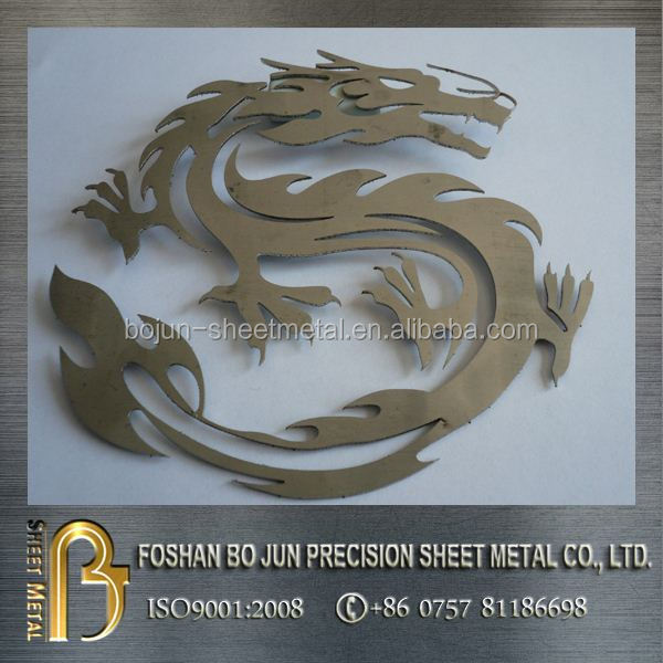 custom high quality laser cutting dragon decoration products